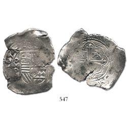 Mexico City, Mexico, cob 8 reales, 1654/3P.