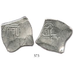 Mexico City, Mexico, cob 8 reales, (169)1(L), rare.