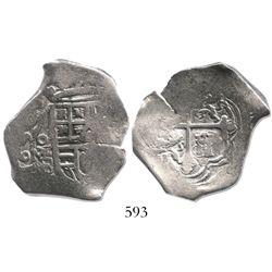 Mexico City, Mexico, cob 4 reales, 1632D/D, very rare.