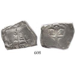 Mexico City, Mexico, cob 4 reales, (1730)G/R, rare.