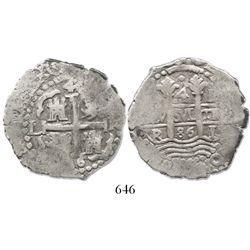 Lima, Peru, cob 4 reales, 1686R, rare.