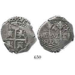 Lima, Peru, cob 4 reales, 1701H.