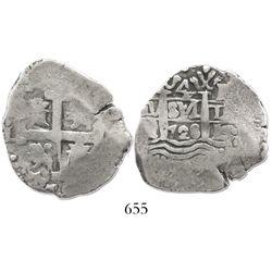 Lima, Peru, cob 4 reales, 1728N, very rare.