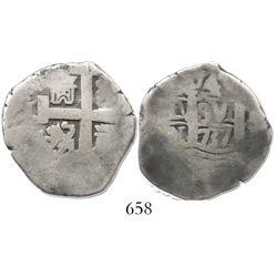 Lima, Peru, cob 4 reales, 1737N.