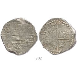 Potosi, Bolivia, cob 8 reales, Philip IV, assayer not visible (mid- to late 1620s), from the ca.-162