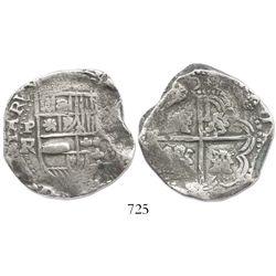 Potosi, Bolivia, cob 8 reales, (16)40FR, rare.