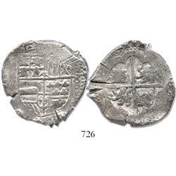 Potosi, Bolivia, cob 8 reales, (16)41(FR), rare (missing in Sellschopp and Karon), with small chopma