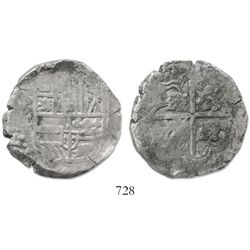 Potosi, Bolivia, cob 8 reales, (16)44FR, rare.
