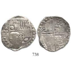 Potosi, Bolivia, cob 4 reales, (1)620T, rare.