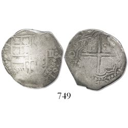 Potosi, Bolivia, cob 2 reales, 161(7)M.