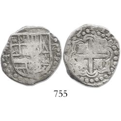 Potosi, Bolivia, cob 2 reales, (16)29T, rare.