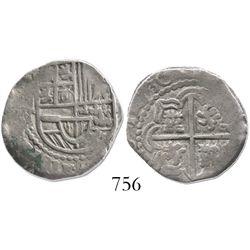 Potosi, Bolivia, cob 2 reales, (16)30T, rare.