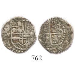 Potosi, Bolivia, cob 1 real, Philip III, assayer T.