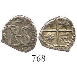 Potosi, Bolivia, cob 1/2 real, Philip III, assayer R.