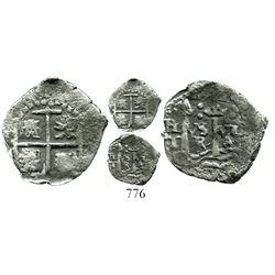 Potosi, Bolivia, cob 1/2 real, (1652) transitional Type IIc.