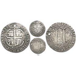 Potosi, Bolivia, cob 8 reales Royal, 1670E.