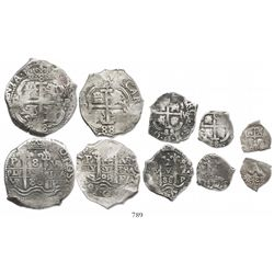 Full set of 8-4-2-1-1/2 reales 1688VR, ex-Sellschopp collection.