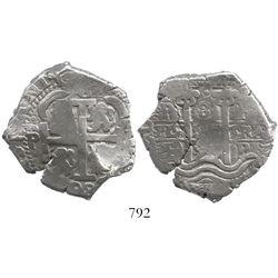 Potosi, Bolivia, cob 8 reales, 1698F.