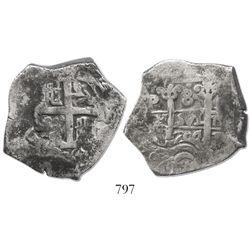 Potosi, Bolivia, cob 8 reales, 1704Y.