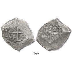 Potosi, Bolivia, cob 8 reales, 1706Y.