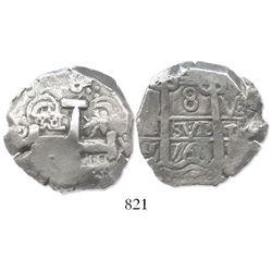 Potosi, Bolivia, cob 8 reales, 1768V-Y.