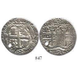 Potosi, Bolivia, cob 4 reales Royal, 1703Y, rare.