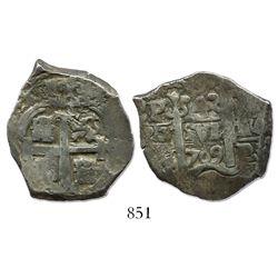Potosi, Bolivia, cob 4 reales, 1709Y.