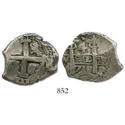 Potosi, Bolivia, cob 4 reales, 1710+11Y, ex-Sellschopp, unique.
