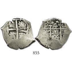 Potosi, Bolivia, cob 4 reales, 1724Y.