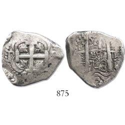 Potosi, Bolivia, cob 4 reales, 1748q.