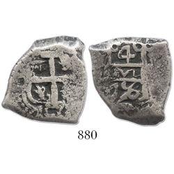 Potosi, Bolivia, cob 4 reales, 1756(q).