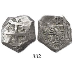 Potosi, Bolivia, cob 4 reales, 1760(V-Y).