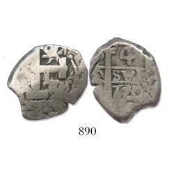 Potosi, Bolivia, cob 4 reales, 1770/69V-Y, very rare.