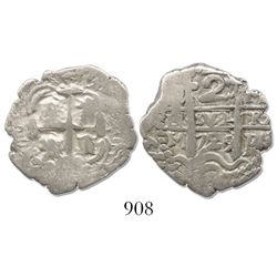Potosi, Bolivia, cob 2 reales, 1729M.