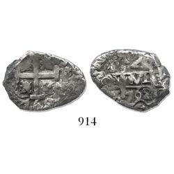 Potosi, Bolivia, cob 2 reales, 1762V-Y.