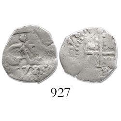 Potosi, Bolivia, cob 1/2 real, 1678.