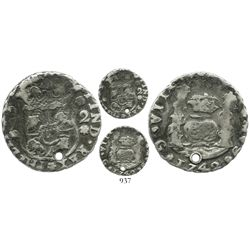 Guatemala, unique machine-struck trial 2 reales, 1742J, struck on a round flan with milled edge