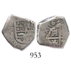 Seville, Spain, cob 1 real, 1627R.