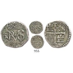 Madrid, Spain, cob 1/2 real, Philip IV, assayer not visible.
