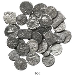 INDO-GREEK. Azes II. 30-50 AD. Lot of 32 AR drachms.