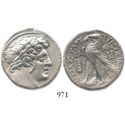 PHOENICIA, Tyre. 126/5 BC to 65/6 AD. AR tetradrachm ( Shekel of Tyre ). Dated 97/6 BC (CY 30).