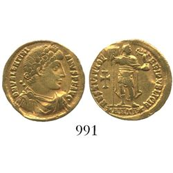 Roman Empire. Valentinian I. 364-375 AD. AV solidus. Antioch mint, 1st officina. Struck 364 AD.
