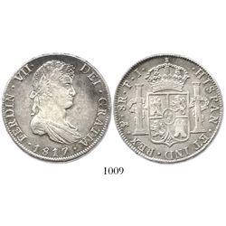 Potosi, Bolivia, bust 8 reales, Ferdinand VII, 1817PJ.