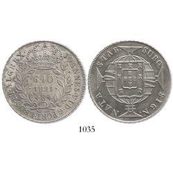 Brazil (Rio mint), 640 reis, 1821-R.