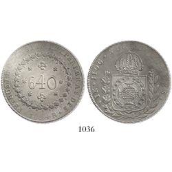 Brazil (Rio mint), 640 reis, 1824-R.