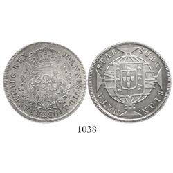 Brazil (Rio mint), 320 reis, 1818-R, low mintage.