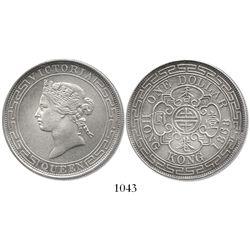 China, Hong Kong (British), one dollar, 1868.