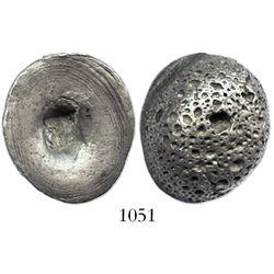 China, sycee ingot, Yuansi Changyuankezi (Fine Silk Oval Ingot), 1800s.