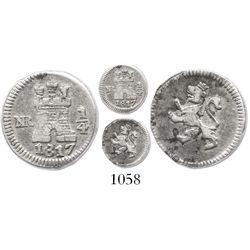 Bogota, Colombia, 1/4 real, 1817.