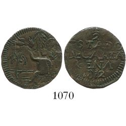 Cartagena (Republican), Colombia, copper 1/2 real, 1812.